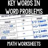 Find the Key Word in Addition and Subtraction Word Problems