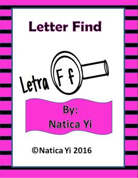 Letter F Letter Identification Literacy Center Activity