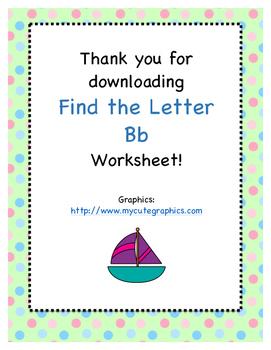 Find the Letter - Letter Bb