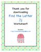 Find the Letter - Letter Jj
