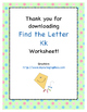 Find the Letter - Letter Kk