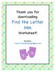 Find the Letter - Letter Mm