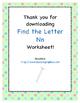 Find the Letter - Letter Nn