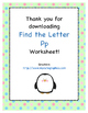 Find the Letter - Letter Pp