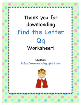 Find the Letter - Letter Qq
