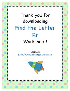 Find the Letter - Letter Rr