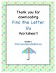 Find the Letter - Letter Uu