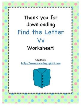 Find the Letter - Letter Vv