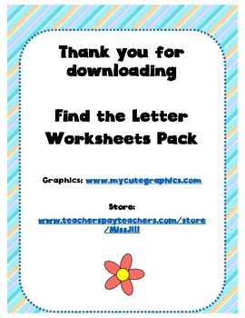 Find the Letter Pack!