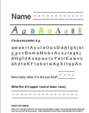 Find the Letter Packet Letters A-Z (26 Worksheets)