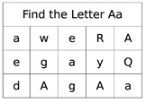 Find the Letter Sheets