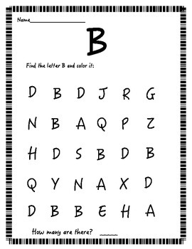 Find the Letter! (uppercase letters)