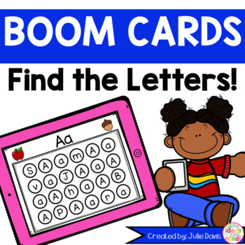 Find the Letters Boom Cards! Alphabet Recognition