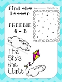 Find the Letters FREEBIE! A-B - Letter Recognition Practice