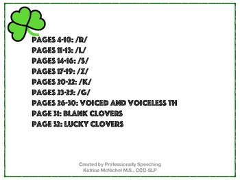 St Patrick's Day: Find the Lucky Clover Articulation Game - Full Version