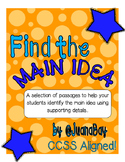 Find the Main Idea- Informational Text