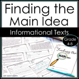 Find the Main Idea:  Practice Booklet for Informational Te