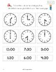 Find the Matching Clocks - 1st grade (CCSS.Math.1.MD.3)