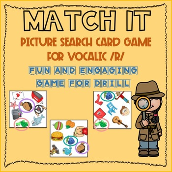 Find the Matching Picture Vocalic R Game (FAST-PACED MATCHING GAME)