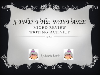 Find the Mistake Writing Activity