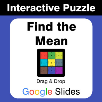 Find the Mean (Average) - Puzzles with GOOGLE Slides