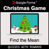 Find the Mean | Christmas Decoration Game | Google Forms |