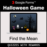 Find the Mean | Halloween Decoration Game | Google Forms |
