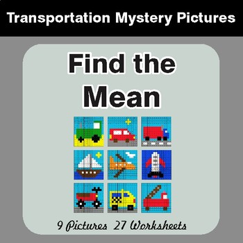 Find the Mean (Math Average) - Color-By-Number Mystery Pictures