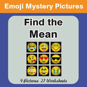 Find the Mean (Math Average) EMOJI Mystery Pictures