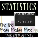 Mean, Median and Mode Task card Activity for Scavenger Hunts and more (6SPA3)