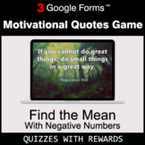 Find the Mean with negative numbers | Motivational Quotes
