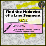 Find the Midpoint of the Line Segment Connecting 2 Points: Maze