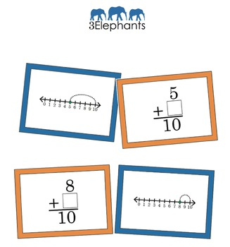 Find the Missing Addend: Match to a Number Line