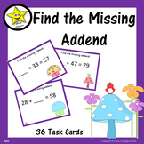 Find the Missing Addend Task Cards