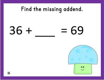 Find the Missing Addend Task Cards
