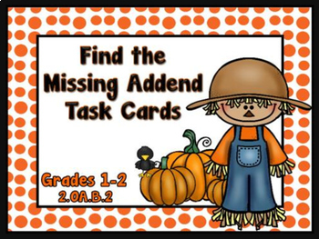 Find the Unknown - Addition within 20  Autumn Themed Task Cards