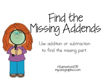 Find the Missing Addends