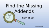 Find the Missing Addends Detective Case