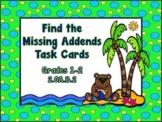 Adding 1-Digit Numbers Task Cards, 1st Grade, 2nd Grade