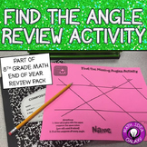 Find the Missing Angle in a Triangle or Transversal Activity