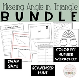 Find the Missing Angle in a Triangle Activities: Bundle