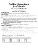 Find the Missing Angle in a Triangle Game Puzzle with Worksheet