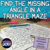 Missing Angle in a Triangle Digital Activity