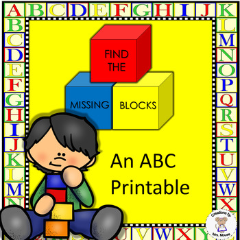 Alphabet Letters - Find the Missing Block