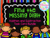 Missing Addends and Subtrahends Task Cards/ Scoot Activity