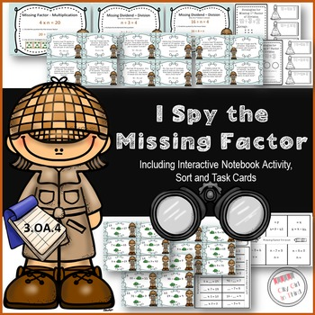 Finding the Unknown Factor / Missing Factor 3.OA.4