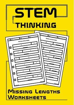 Find the Missing Lengths Pre Algebra Math Worksheets