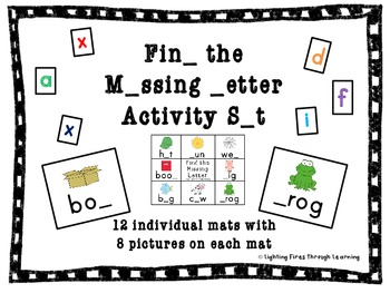 Find the Missing Letter Activities