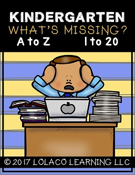 Find the Missing Letters & Numbers - Kindergarten