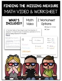 Find the Missing Measures Math Video and Worksheet